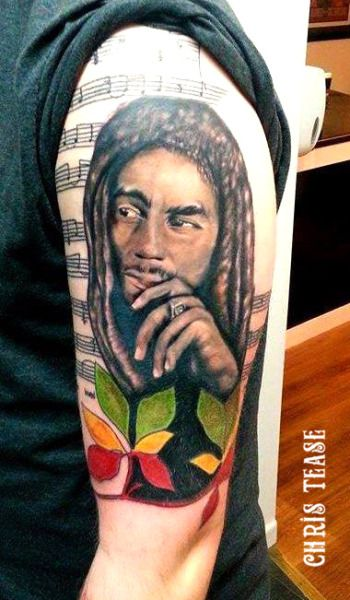 Bob Marley Tattoo by Irish Tattoo artist Chris Tease www.christeasetattoo.com