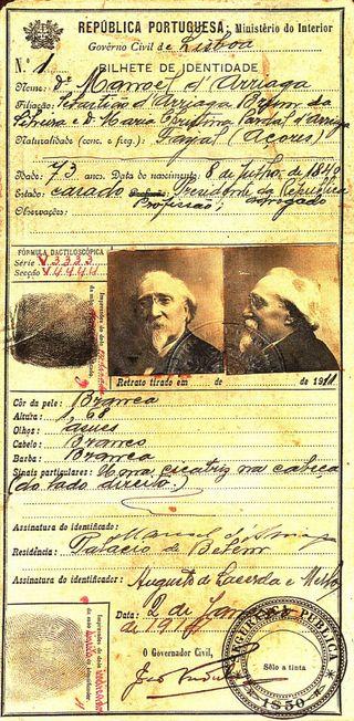 O primeiro bilhete de identidade emitido em Portugal - PORTUGALdantigamente