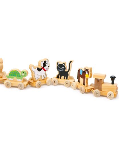 Wooden Railway Animals & Numbers For Kids have Animals on one side & digits on the other side making it easy for kids to learn while they play. Perfect for learning counting & distinguish between animals.