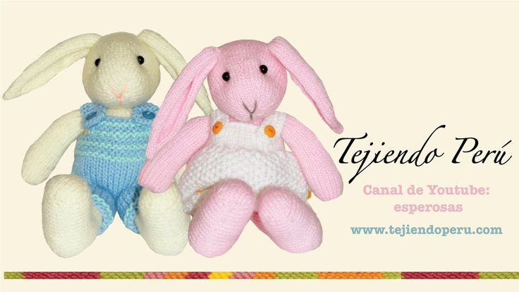 Conejos tejidos en dos agujas o palillos (Parte 7: acabados)