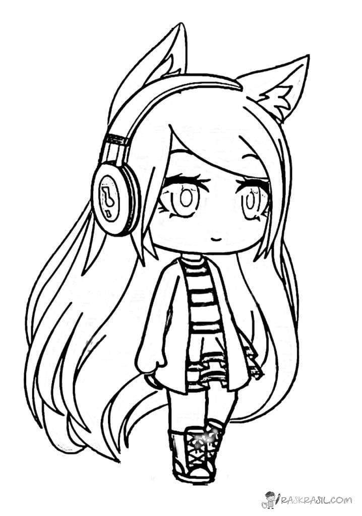 Gacha Life Coloring Pages Unique Collection Print For Free In 2020 Chibi Coloring Pages Unicorn Coloring Pages Cartoon Coloring Pages