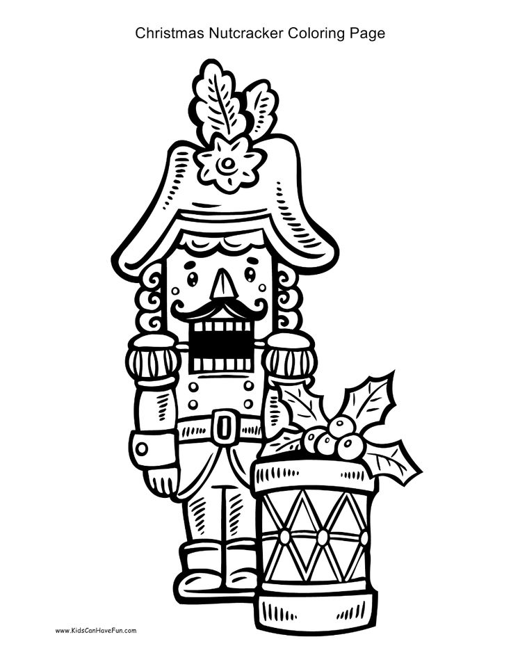 simple nutcracker coloring pages - photo#25
