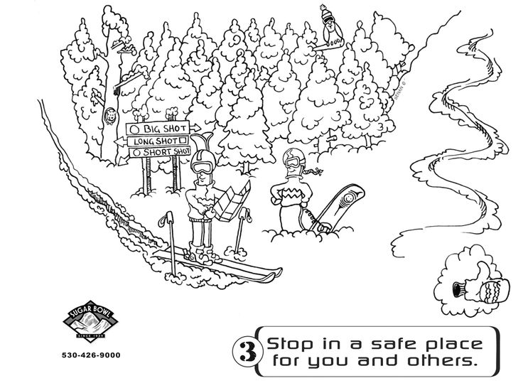 Ski Resort Coloring Pages For Adults
