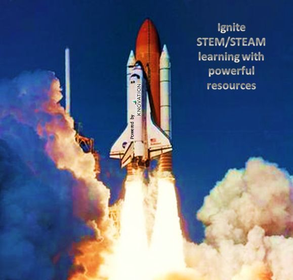 Invite STEM/STEAM learning with powerful resources. ThingLink Interactive Image.