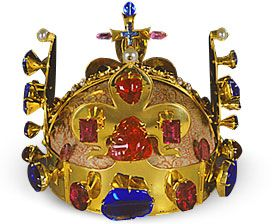St. Wenceslas Crown. wrought of extremely pure gold 21-22 carat decorated with precious stones and pearls. The oldest item of the crown jewels. made in 1347