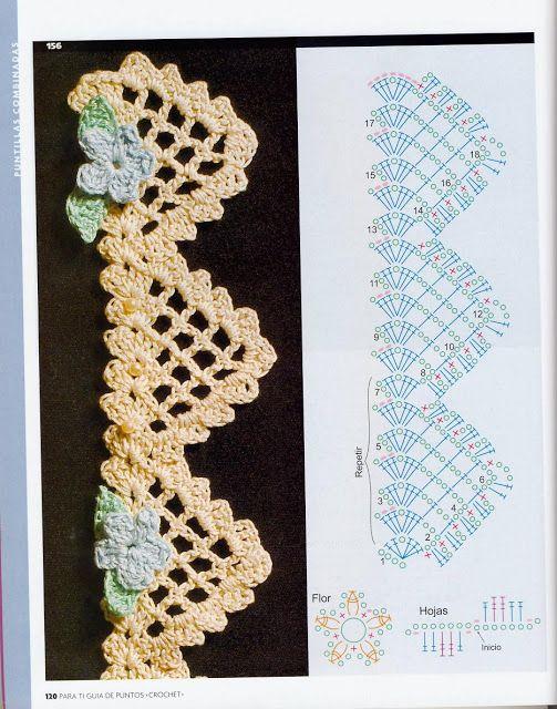 Crochet edges.#afs collection ✿⊱╮Teresa Restegui http://www.pinterest.com/teretegui/✿⊱╮