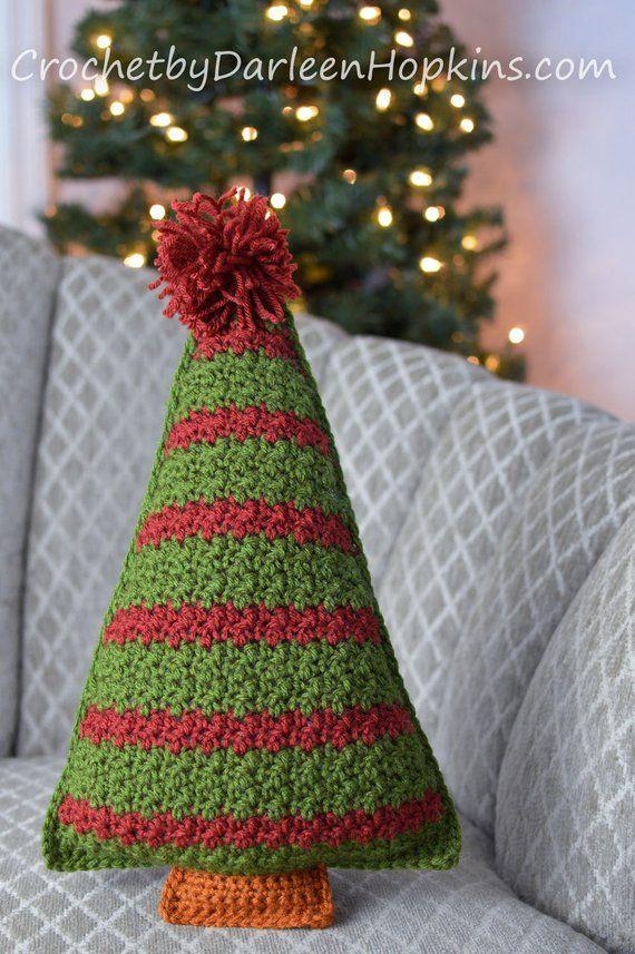 Crochet Pattern Crochet Christmas Tree Pillow Pattern Etsy Christmas Tree Pillow Crochet Christmas Trees Christmas Crochet