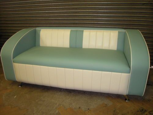 American Diner 50 S 60 S Sofa Turquoise Retro Booth 3