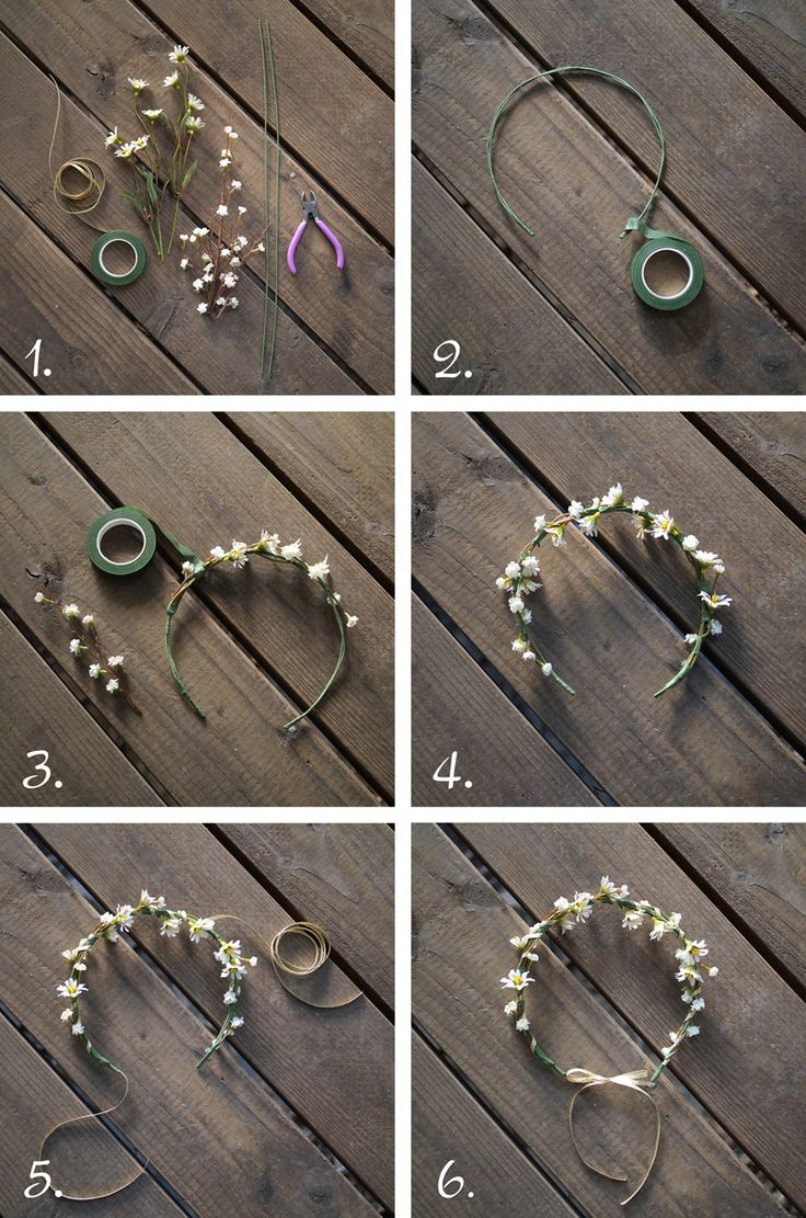 Floral Crown Tutorial - if only this came with step by step instructions. But i think I can figure it out!