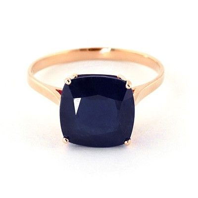 14K Rose Gold 4.83ct Sapphire Rococo Cushion Ring. (I'm such a sucker for that deep navy color!!)