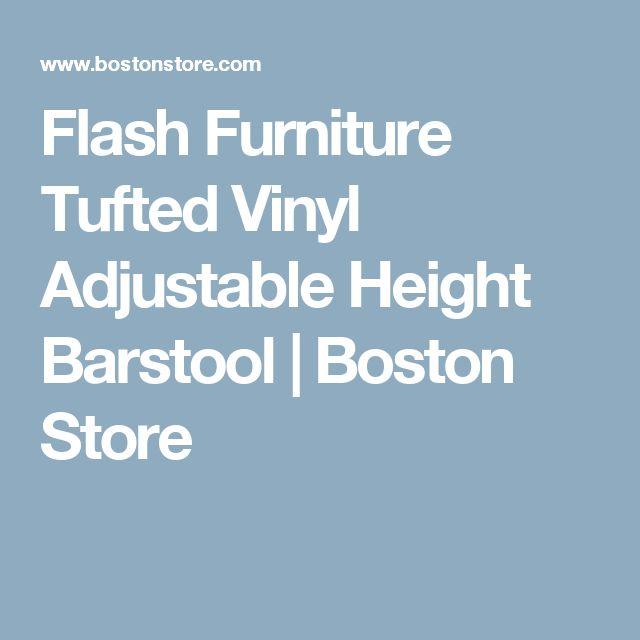 Flash Furniture Tufted Vinyl Adjustable Height Barstool | Boston Store