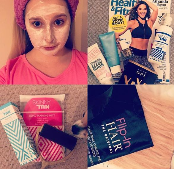 We love being part of our customers #party prep essentials!  - Face mask  - Spray tan - FLIP-IN HAIR ... And your ready for your night out! #flipinhair #beauty #fridayfeeling #weekend #happy #flipin #hair #extensions #hairextensions #girl #flip #style #beautiful #instagood