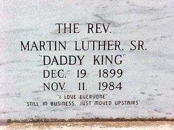 Rev Martin Luther King, Sr