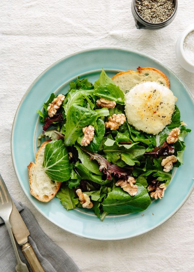 Recipe: Alice Waters' Baked Goat Cheese with Spring Lettuce Salad — Recipes from The Kitchn | The Kitchn