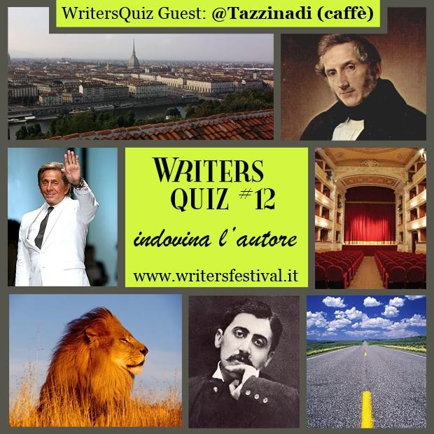 Arriva il nuovo WritersQuiz Guest! E questa volta è made by Tazzina-di-caffè che questa settimana ci propone un #indovinalautore!    Il premio scelto dal nostro guest è una copia di un libro scritto dall'autore (da indovinare) e una tazzina d(a) caffè!    Ricordiamo come si partecipa:  1. iscrivetevi alla newsletter di Writers ;  2. inviate la risposta esatta all'indirizzo email press -at- writersfestival.it .  Il vincitore estratto potrà ritirare il suo premio durante l'evento Writers!