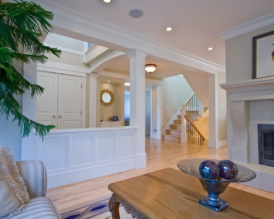 12 best pillars and stone images on pinterest half walls - Pictures of columns in living room ...