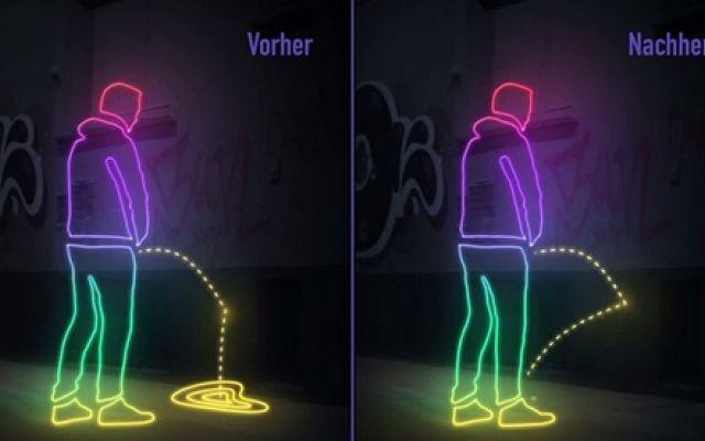Contro la pipì dei maleducati arriva da Amburgo la soluzione! #vernice #contro #pipì #sui #muri