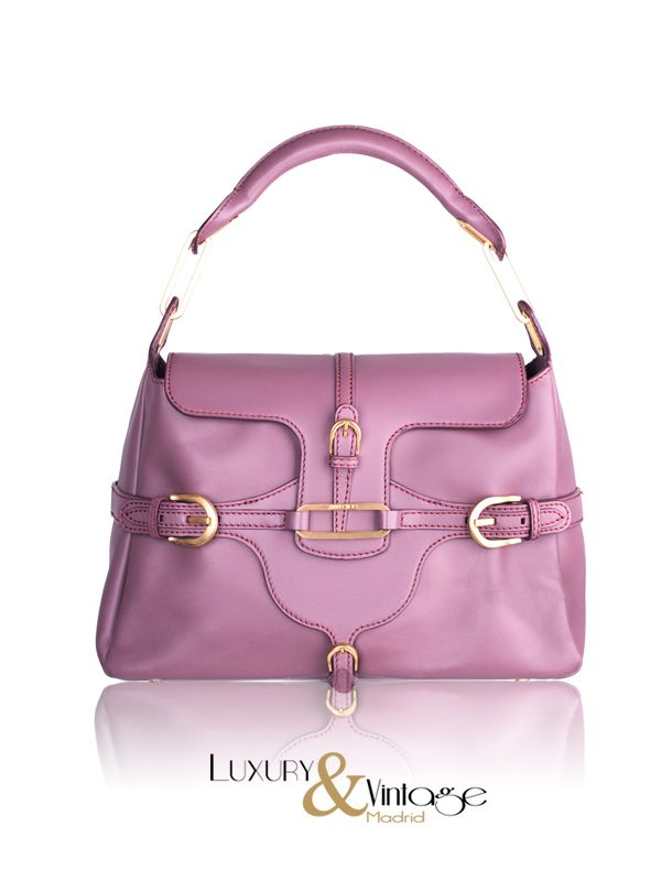 Jimmy Choo Purple Leather Tulita Tote Bag Handbag