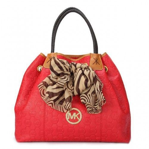 Michael Kors Scarf Jacquard Large Red Shoulder Bags I love it so much!  Ready for the matching wallet hunn!