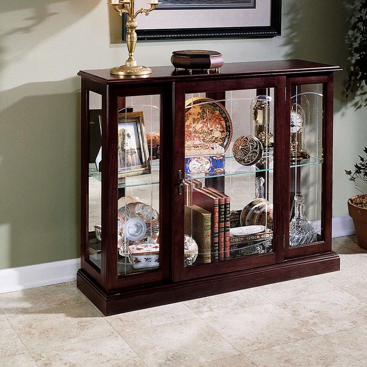 Preferred 81 best Curio cabinets images on Pinterest | Antique furniture  IV42