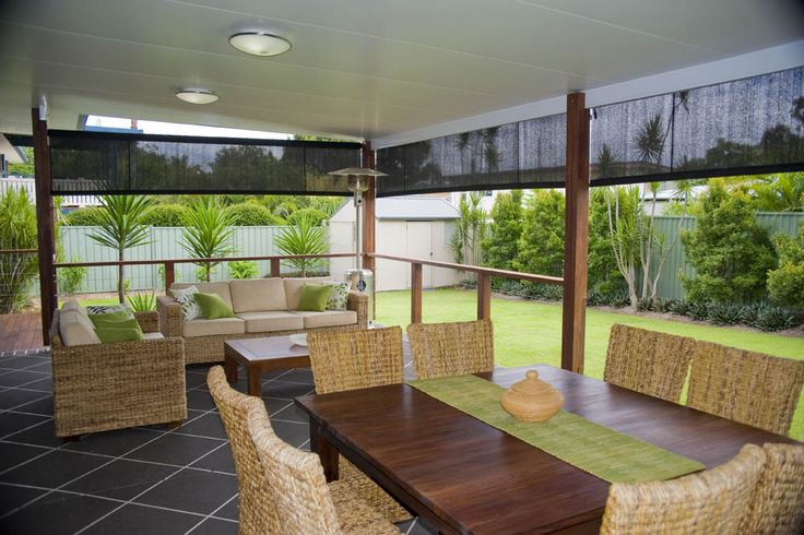 The ultimate entertainer's patio; spacious and airy. The perfect solution for Brisbane families. #patiodesign