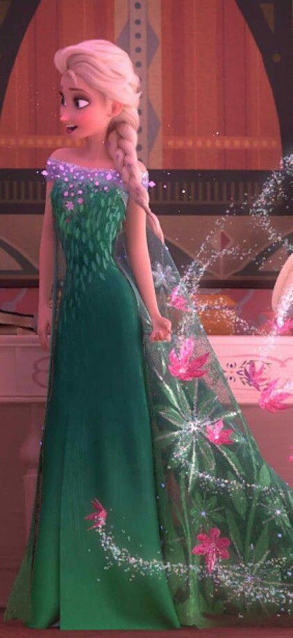 Elsa in Frozen Fever #Disney #Frozen