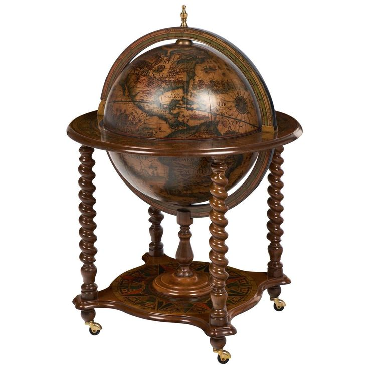 Vintage Italy Globe Bar Cart Side Table | From a unique collection of antique and modern dry bars at https://www.1stdibs.com/furniture/storage-case-pieces/dry-bars/