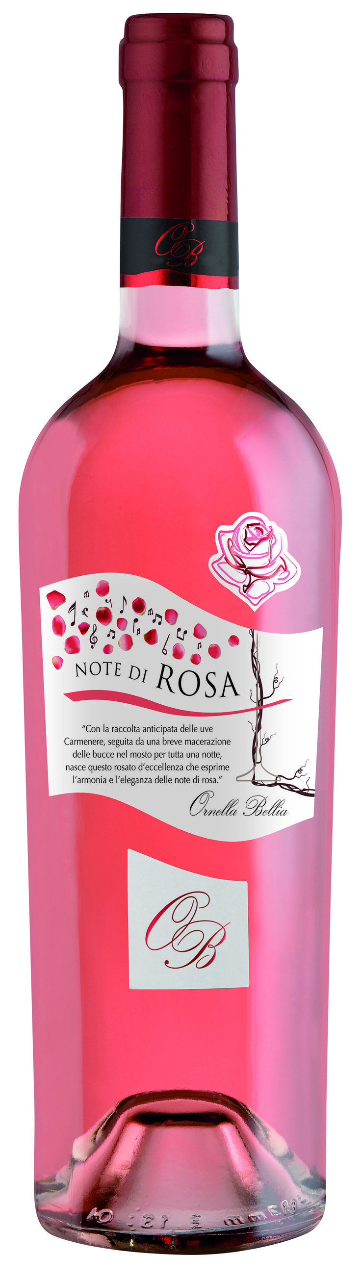 Note di Rosa - Ornella Bellia #winelabel #winedesign #italianwine #Francescon #Collodi #F&C