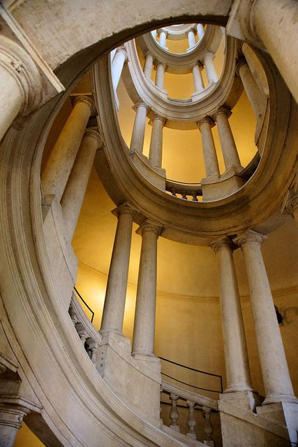 Rome, Staircase at Palazzo Barberini - Francesco Borromini