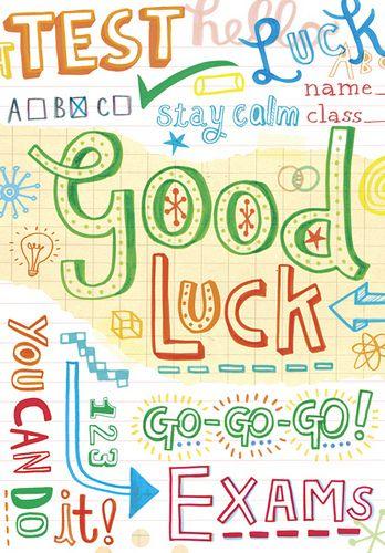 https://flic.kr/p/631Bcu | Good Luck (Exams) | Greetings Card Client: Woodmansterne