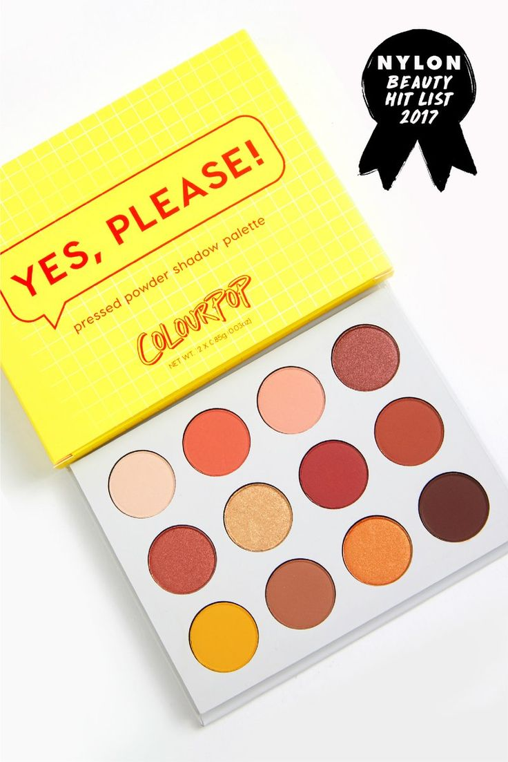 Yes, Please! Pressed Powder Shadow Palette won the Nylon Beauty Hit List 2017 award