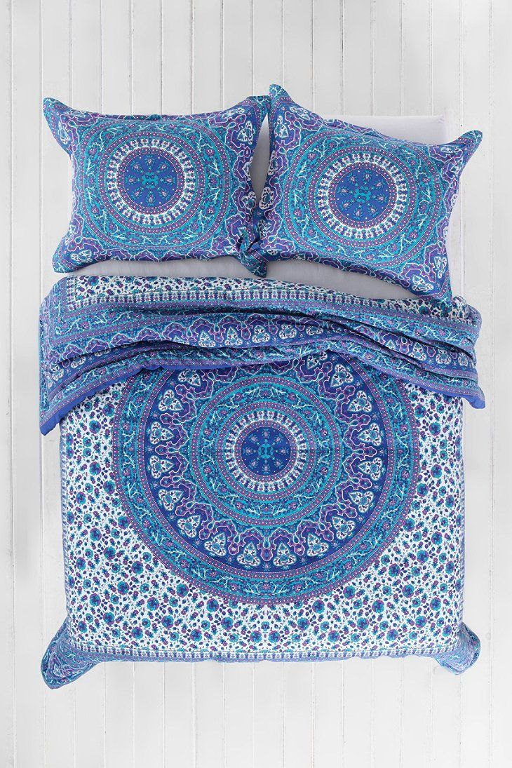 best  bohemian bedding sets ideas on pinterest  blue bed  - magical thinking ophelia medallion comforter