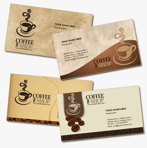 4 Business Card Templates For Coffee Shops Coffee Card