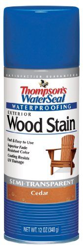 Thompsons 10521 Cedar Waterseal  Exterior Wood Stain   Exterior Spray Wood Stain