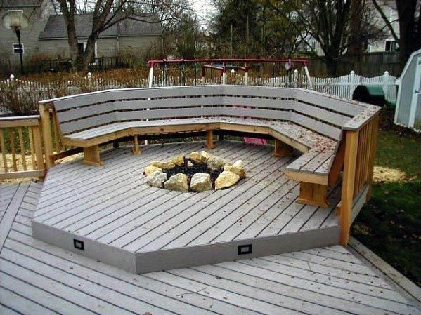 Top 50 Best Deck Fire Pit Ideas Wood Safe Designs 2019 Deck