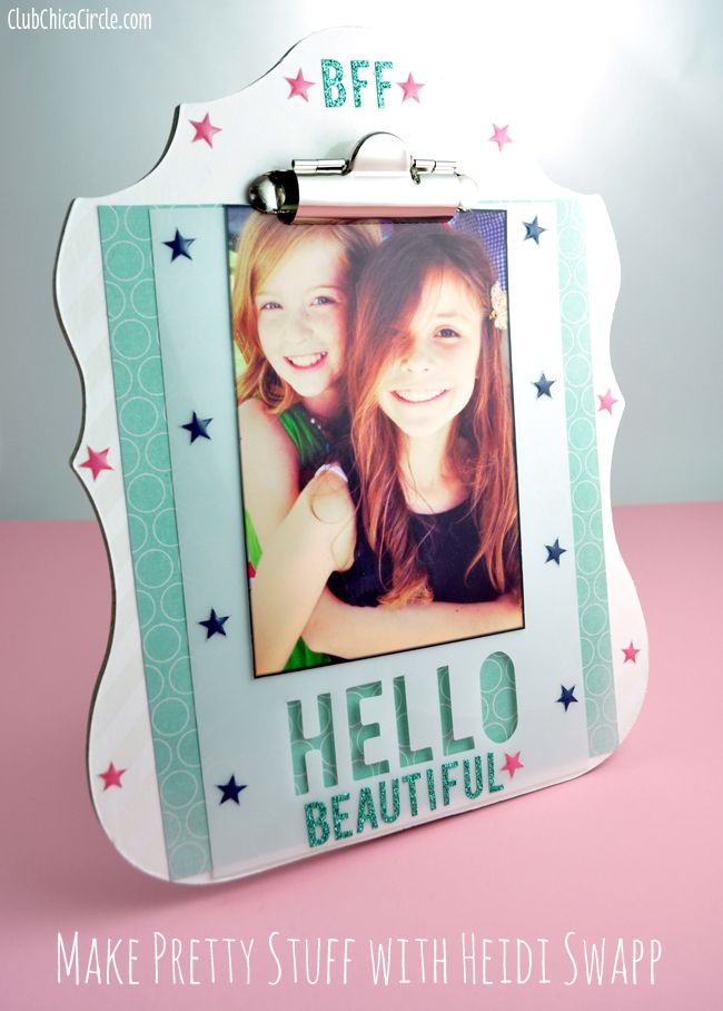 Pretty Decorated Heidi Swapp Clipboard Frame with @Heidi Haugen Swapp and @joannn_stores! www