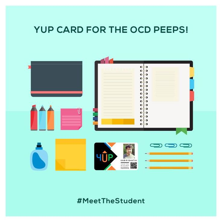 Every student is unique in their own way. That includes you OCD peeps! YUP Card is your handy companioin everywhere you go. http://www.yupcard.com/ #MeetTheStudent #Students #Deals