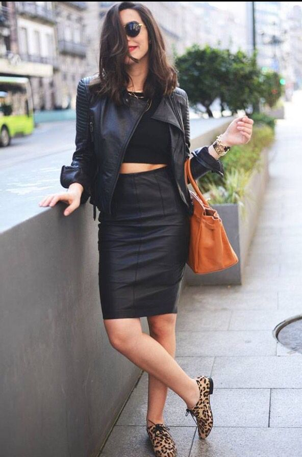 All black and leopard