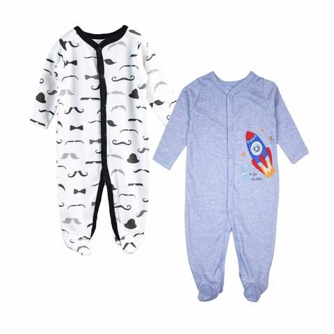 11cdd80050b2 2 pcs   lot Baby Romper Long Sleeves 100% Cotton Comfortable Baby ...