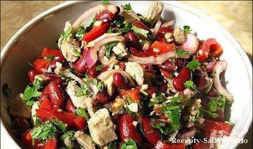 Белковый салат с говядиной и фасолью - приготовь на ужин!