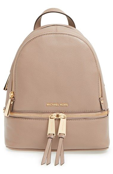 ** But in black MICHAEL Michael Kors 'Extra Small Rhea Zip' Leather Backpack available at #Nordstrom