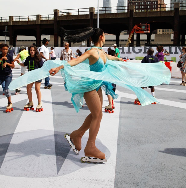 The Latest Addition To The High Line: A Roller-Skating Rink