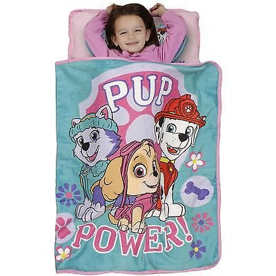 Toddler Nap Mat Sleeping Bag Skye Paw Patrol Pillow Blanket Kids Daycare Bed Set