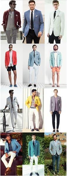 Пиджаки мужские цветные
