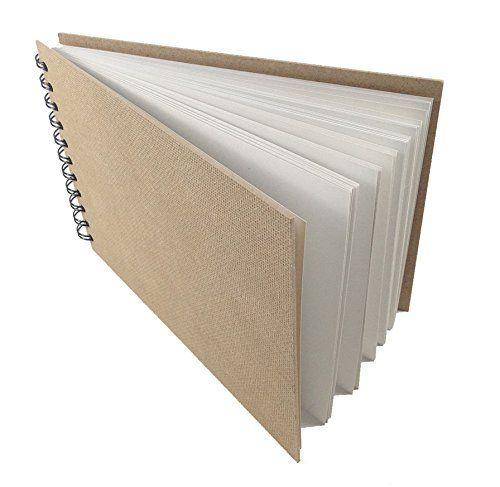 Artway Enviro (carta riciclata) A4 Sketchbook / Album per schizzi formato Landscape spiralato. 70 pagine, 170 g/mq carta grossa da disegno 100% riciclata con copertina naturale rigida EURO 9,11