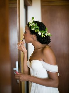 Goddess updo natural curly bridal wedding hairstyles for black women