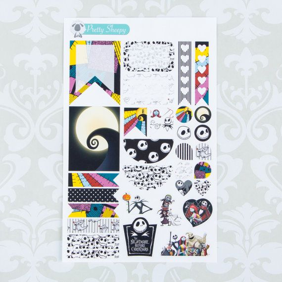 W109 nightmare before christmas weekly theme planner sticker set