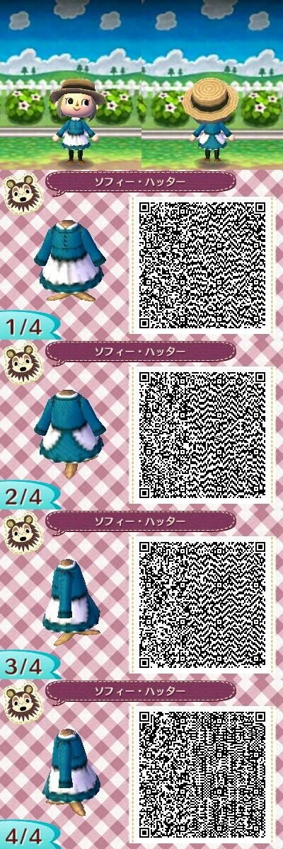 Animal Crossing: New Leaf QR - Sophie Hatter (Howl's Moving Castle)