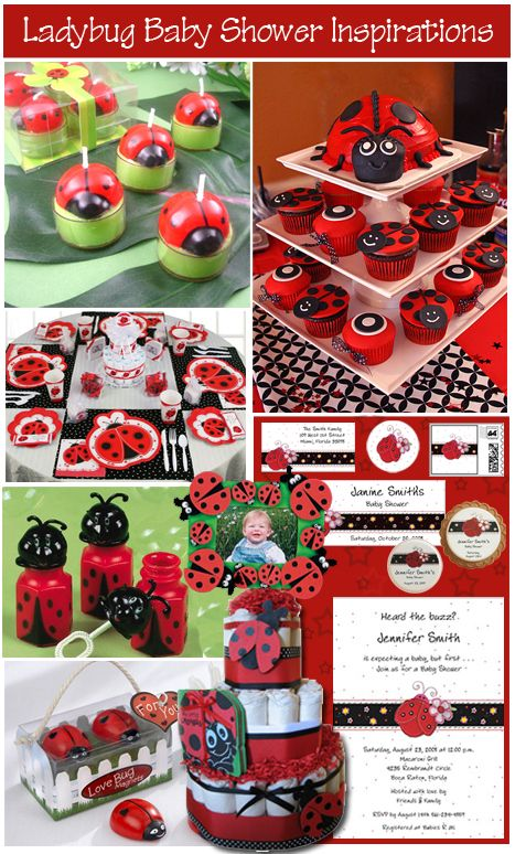 ladybug baby shower theme inspiration board when i have a baby pinterest accessoire. Black Bedroom Furniture Sets. Home Design Ideas