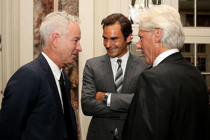 John McEnroe, Roger Federer & Björn Borg Generations of Wimbledon Champions Wearing Rolex